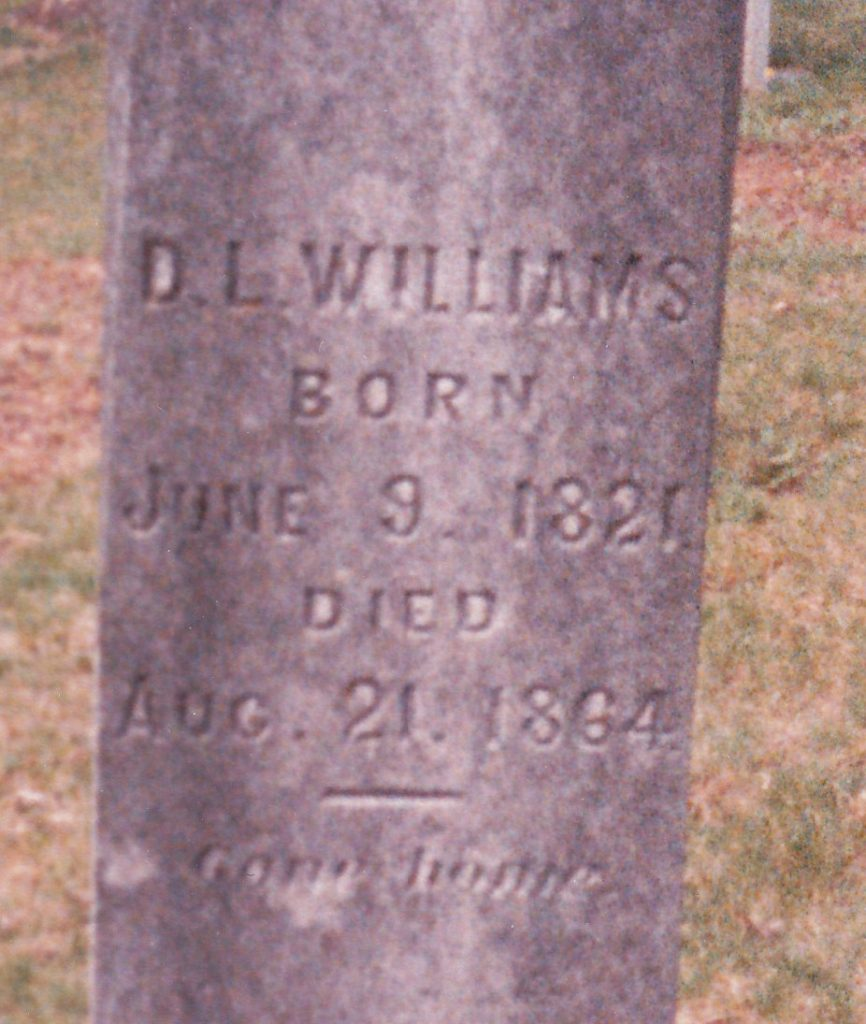 D. L. Williams Tombstone
